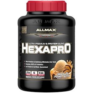 Оллмакс Нутришн, Hexapro, Ultra-Premium Protein + MCT & Coconut Oil, Chocolate Peanut Butter, 5.5 lbs (2.5 kg) отзывы