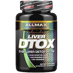 ALLMAX Nutrition, Liver Dtox with Extra Strength Silymarin (Milk Thistle) and Turmeric (95% Curcumin), 42 Capsules