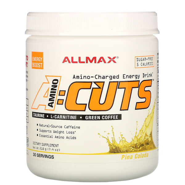 ACUTS, Amino-Charged Energy Drink, Pina Colada, 7.4 oz (210 g)
