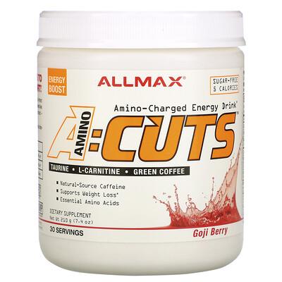 Купить ALLMAX Nutrition ACUTS, энергетический напиток с аминокислотами, ягоды годжи, 210г (7, 4унции)