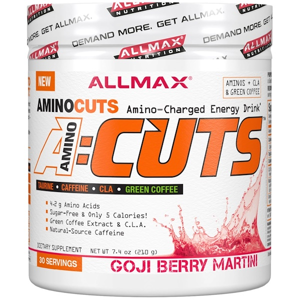ACUTS, Amino-Charged Energy Drink, Goji Berry Martini, 7.4 oz (210 g)