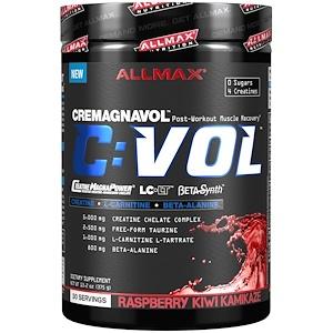 ALLMAX Nutrition, C:VOL, креатин для профессиональных спортсменов + таурин + L-карнитин, убийственная малина и киви, 13,2 унции (375 г)