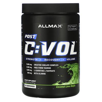 Купить ALLMAX Nutrition CVOL, Post, вкус кокоса и лайма, 375 г (13, 2 унции)