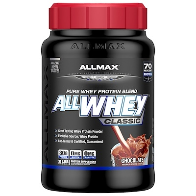 Купить AllWhey Classic, 100% сывороточный протеин, шоколад, 2 фунта (907 г)
