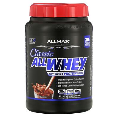 ALLMAX Nutrition AllWhey Classic, 100% сывороточный протеин, шоколад, 907г (2фунта)
