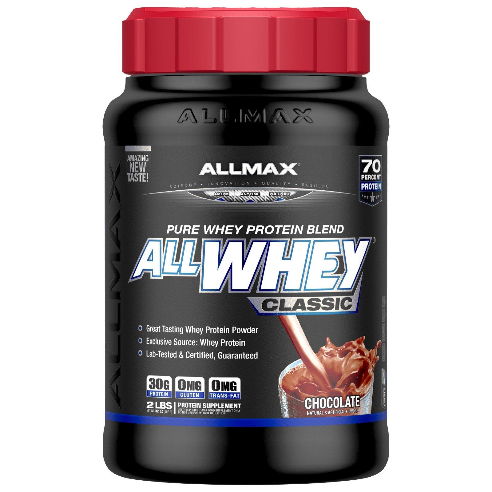 ALLMAX Nutrition, AllWhey Classic, 100% сывороточный протеин, шоколад, 2 фунта (907 г)