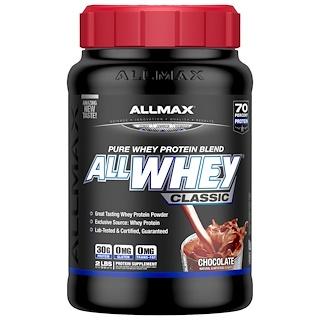 ALLMAX Nutrition, オールホエイクラシック、100%ホエイプロテイン、チョコレート、2ポンド (907 g)