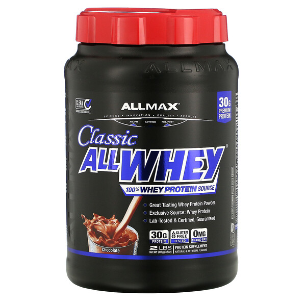 ALLMAX Nutrition, AllWhey Classic، 100% بروتين مصل لبن، شيكولاتة، 2 رطل (907 جم)