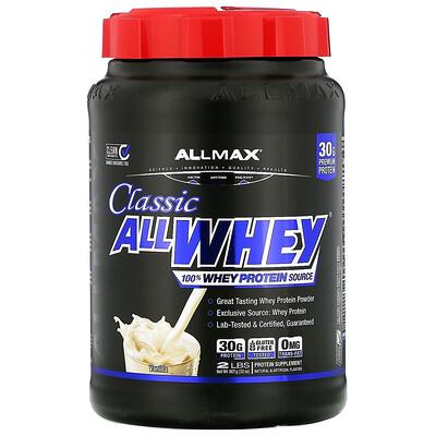 ALLMAX Nutrition AllWhey Classic, 100% сывороточный протеин, французская ваниль, 2 фунта (907 г)