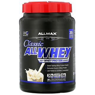 ALLMAX Nutrition, AllWhey Classic,全乳清蛋白,法國香草,2 磅(907 克)