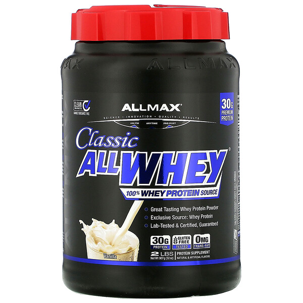 AllWhey Classic, 100% Whey Protein, French Vanilla, 2 lbs (907 g)