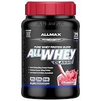 AllWhey Classic, 100% сывороточный протеин, клубника, 2 фунта (907 г) - фото