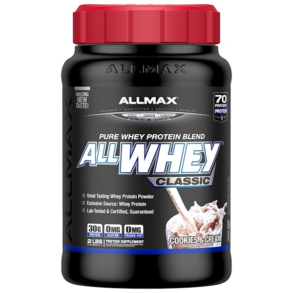 ALLMAX Nutrition, AllWhey Classic, 100% Whey Protein, Cookies & Cream, 2 lbs (907 g) (Discontinued Item)
