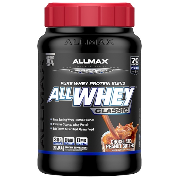 ALLMAX Nutrition, AllWhey Classic, 100% Whey Protein, Chocolate Peanut Butter, 2 lbs (907 g) (Discontinued Item)