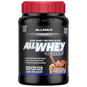 Оллмакс Нутришн, AllWhey Classic, 100% Whey Protein, Chocolate Peanut Butter, 2 lbs (907 g) отзывы покупателей