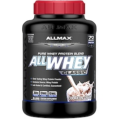 ALLMAX Nutrition, オールホエイクラシック、100%ホエイプロテイン、クッキー&クリーム、5ポンド (2.27 kg)