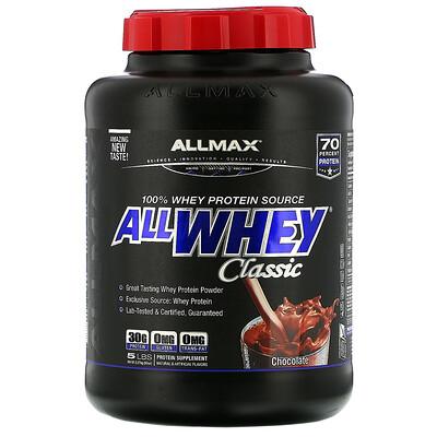 ALLMAX Nutrition AllWhey Classic, 100% сывороточный протеин, шоколад, 2,27кг (5фунтов)