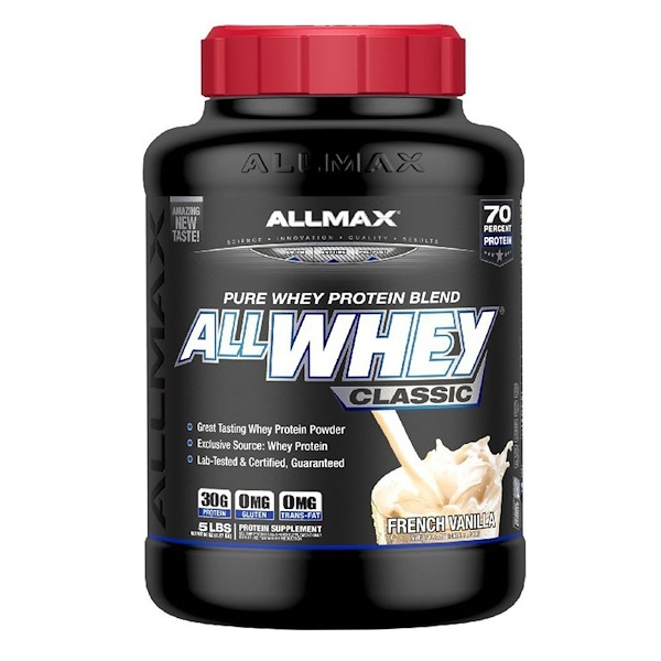 ALLMAX Nutrition, AllWhey Classic,100% 乳清蛋白,法國香草味,5 磅(2、27 千克)