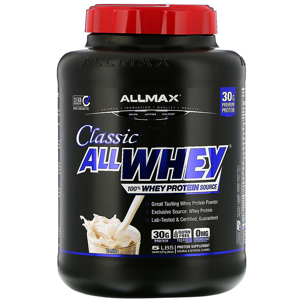 AllWhey Classic, 100% Whey Protein, French Vanilla, 5 lbs (2.27 kg)