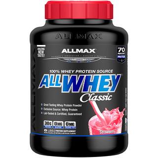 ALLMAX Nutrition, オールホエイクラシック、100%ホエイプロテイン、イチゴ、5 lbs (2.27 kg)
