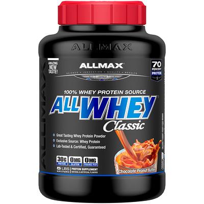 Купить AllWhey Classic, 100% сывороточный белок, шоколад-арахисовое масло, 2270 г (5 lbs)