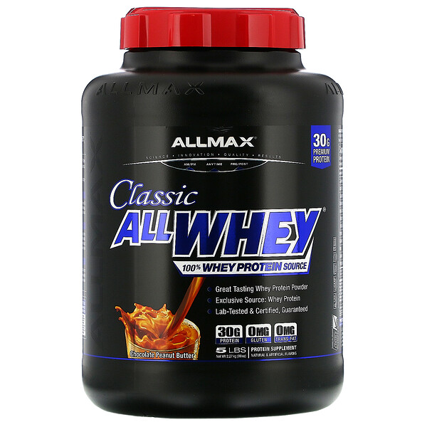 Classic AllWhey, 100% Whey Protein, Chocolate Peanut Butter, 5 lbs (2.27 kg)