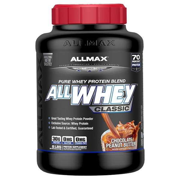 ALLMAX Nutrition, AllWhey Classic, 100% Whey Protein, Chocolate Peanut Butter, 5 lbs (2.27 kg)