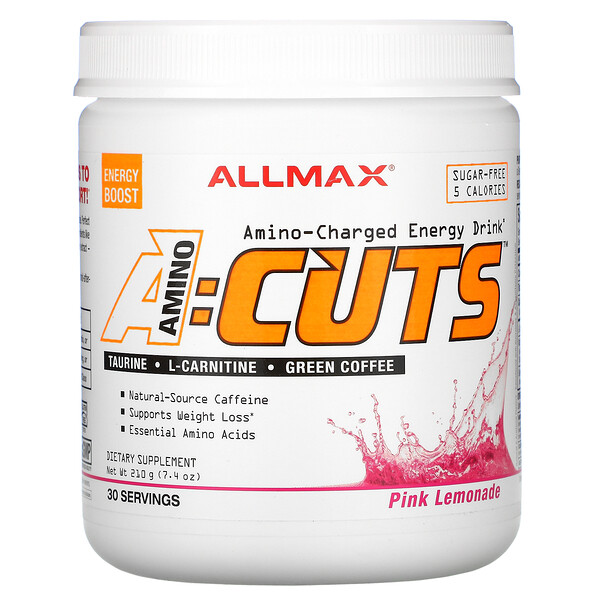 ACUTS, Amino-Charged Energy Drink, Pink Lemonade, 7.4 oz (210 g)