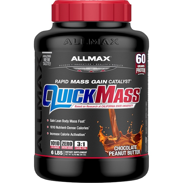 QuickMass, Rapid Mass Gain Catalyst, Chocolate Peanut Butter, 6 lbs (2.72 kg)