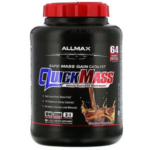 Оллмакс Нутришн, QuickMass, Rapid Mass Gain Catalyst, Chocolate Peanut Butter, 6 lbs (2.72 kg) отзывы
