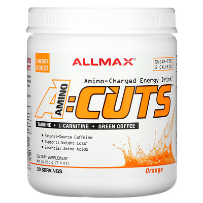 Купить ALLMAX Nutrition ACUTS, Amino-Charged Energy Drink, Arctic Orange, 7.4 oz (210 g)