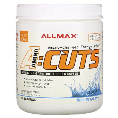 ALLMAX Nutrition ACUTS, энергетический напиток с аминокислотами, голубая малина, 210г (7, 4унции)  - купить со скидкой