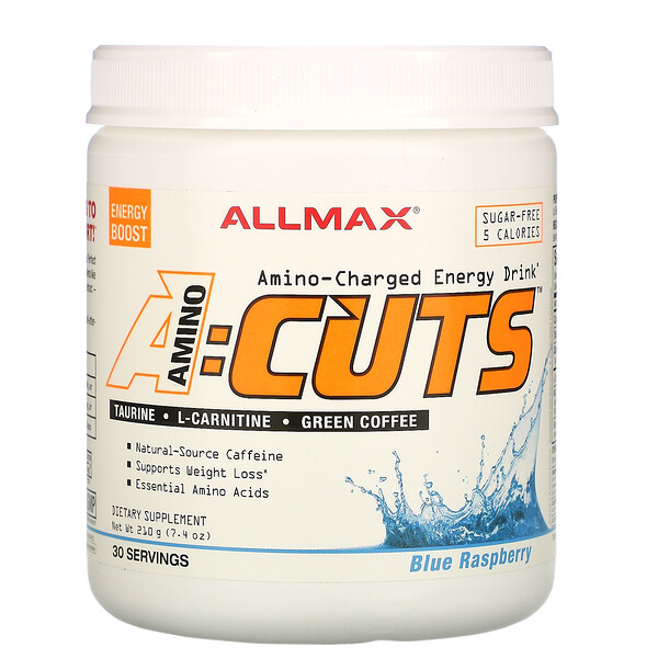 ALLMAX Nutrition, ACUTS, Amino-Charged Energy Drink, Blue Raspberry, 7.4 oz (210 g)
