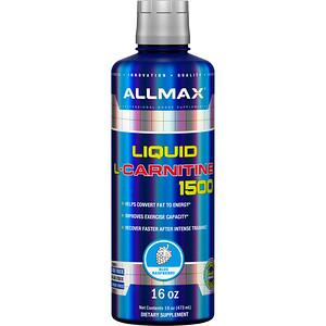 Оллмакс Нутришн, Liquid L-Carnitine 1500, Blue Raspberry, 16 oz (473 ml) отзывы покупателей