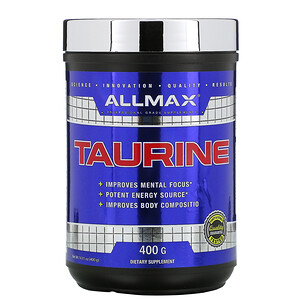 Оллмакс Нутришн, Taurine, Vegan + Gluten-Free, Unflavored, 3,000 mg, 14.11 oz (400 g) отзывы