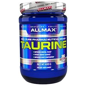 ALLMAX Nutrition, 100% чистый таурин + максимальная сила + усвоение, 3000 мг, 14,1 унции (400 г)