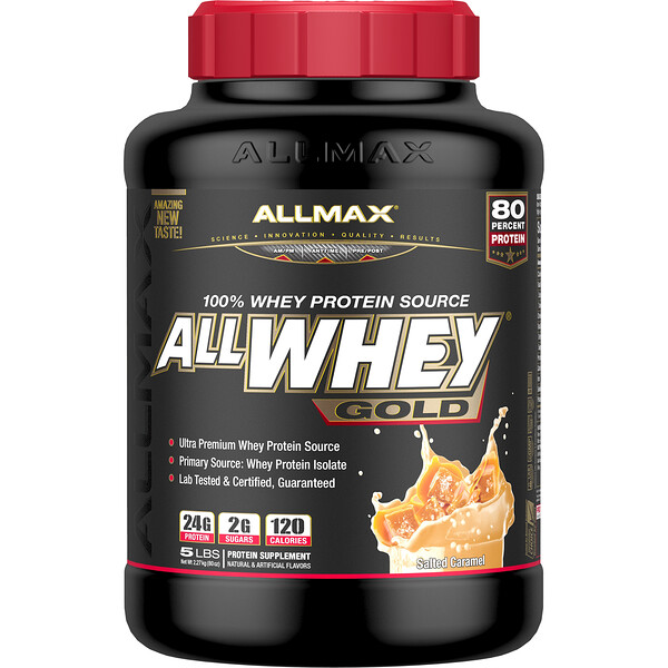 ALLMAX Nutrition, AllWhey Gold, 100% Whey Protein Source, Salted Caramel, 5 lbs. (2.27 kg) (Discontinued Item)