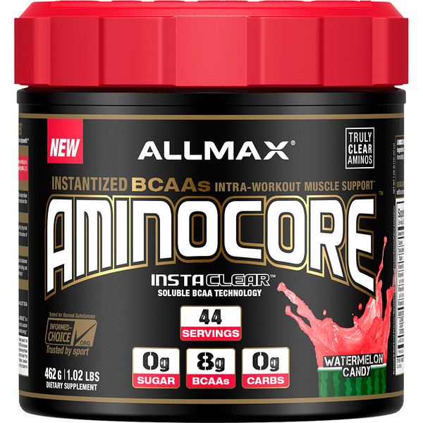 AMINOCORE, Instantized BCAAs Intra-Workout Muscle Support, Watermelon Candy, 1.02 lb (462 g)