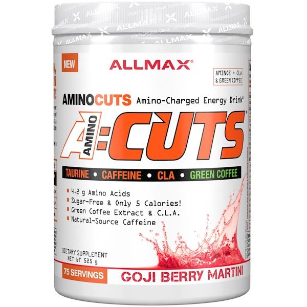 ALLMAX Nutrition, AMINOCUTS (ACUTS), Weight-Loss BCAA (CLA + Taurine + Green Coffee), Goji Berry Martini, 525 g (Discontinued Item)