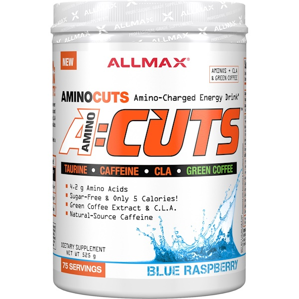 ALLMAX Nutrition, ACUTS, Amino-Charged Energy Drink, Blue Raspberry, 525 g (Discontinued Item)