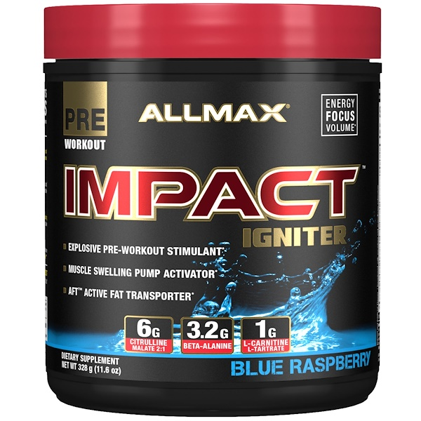 IMPACT Igniter, Pre-Workout, Blue Raspberry, 11.6 oz (328 g)