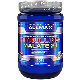 ALLMAX Nutrition, Citrulline+ malate 2:1, 300 g (10,58 oz)