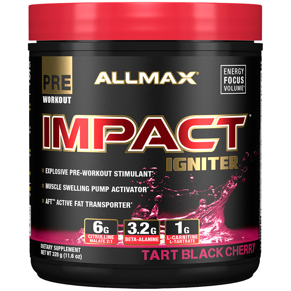 ALLMAX Nutrition, Impact Igniter Pre-Workout, Tart Black Cherry, 11.6 oz (328 g)