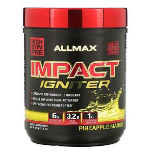Оллмакс Нутришн, IMPACT Igniter, Pre-Workout, Pineapple Mango, 11.6 oz (328 g) отзывы покупателей