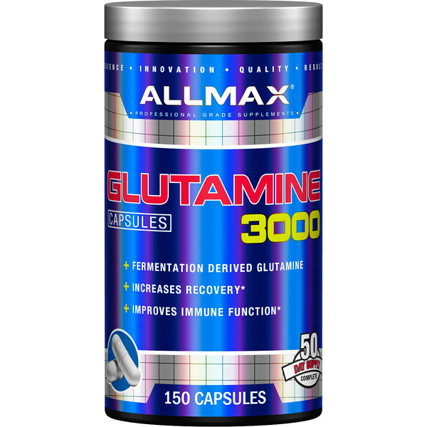 ALLMAX Nutrition, Glutamine 3000, 3,000 mg, 150 Capsules (Discontinued Item)