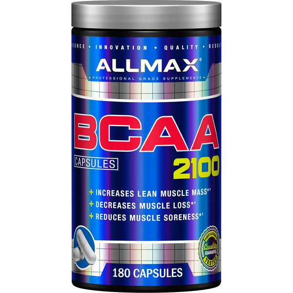 ALLMAX Nutrition, BCAA 2100, 180 capsules (Discontinued Item)