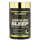 ALLMAX Nutrition, Lights Out Sleep,褪黑素 + GABA + 纈草根,60 粒素食膠囊