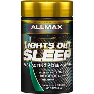 ALLMAX Nutrition, Lights Out Sleep, 60 Capsules