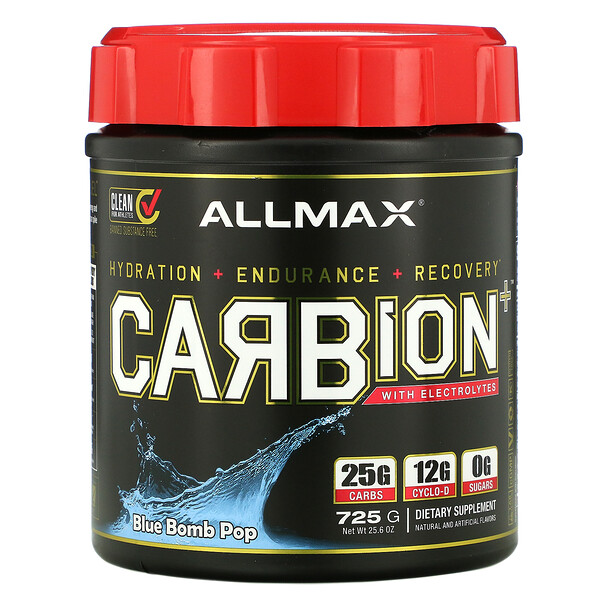 CARBion+ with Electrolytes, Blue Bomb Pop, 25.6 oz (725 g)