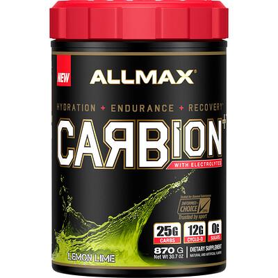 Купить ALLMAX Nutrition CARBion+ with Electrolytes + Hydration, Gluten-Free + Vegan Certified, Lemon Lime, 1.91 lbs (870 g)